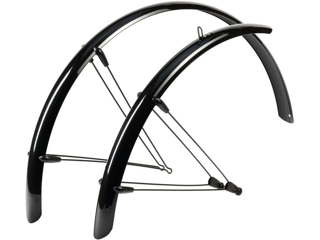 "Hebie Rainline Spatbordenset 26"" 48 mm met Beugels, black"